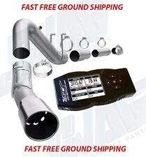 MAGNAFLOW ALUMINIZED DPF BACK EXHAUST & SCT X4 TUNER FOR '11-16 6.7 POWERSTROKE