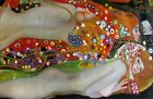 Gustav Klimt Water Snakes Repro, Quality Hand Painted Oil Painting 24x36in