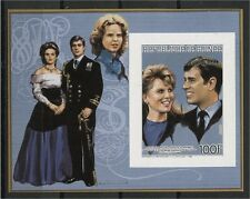 GUINEA, SOUVENIR SHEET, Mariage Prince Andrew, INVERTED OVERPRINT