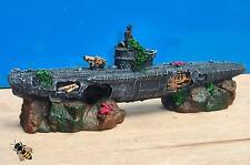 Sous-marin U BOAT ROCHERS guerre sub épave aquarium Ornament Fish Tank nouveau
