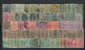 BRITISH INDIA  - 87 OLD USED STAMPS