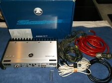 JL AUDIO SLASH 500/1v2 CAR AMPLIFIER!!  500/1 AMP+ BOX, REMOTE, JL WIRE LOT!! SQ