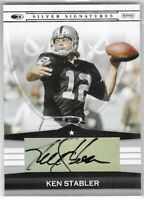 2008 Donruss Playoff Ken Stabler Silver Signature Auto SP No. SS-KS TI
