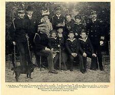 Dier griechische Königsfamilie König Georg Königin Olga Kronprinz u. Herz...1900