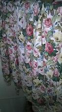 """Vintage Sanderson Chelsea Rose Curtains 64"""" x 44"""""""