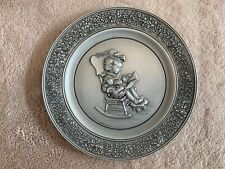 """Hallmark Special Day Pewter Plate 1981 """"We Learn Love at Home"""""""