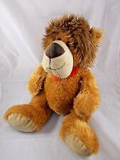 "Dan Dee Lion Plush Red Ribbon 16"" Stuffed Animal"
