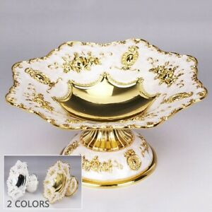 European Style Tray Plate Serving Food Fruit Snack Dish Bowl Stand  Silver Gold