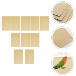 10 Sheets of Pet Cage Sandpaper Parrot Cage Paper Bird Cage Liner for Bird Pet