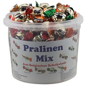 Belgische Schokoladen Pralinen im praktischen Eimer 1,2 kg Top Qualität
