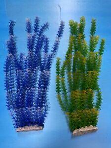 """Artificial Aquarium Plant for Fish Tanks, LARGE aquarium plastic plant, 22"""" TALL"""
