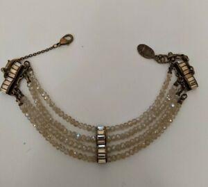 Michal Negrin Bracelet Red Crystals Edwardian Victorian Antique Vintage Handmade Designer Rhinestones Jewelry Chain Link bordeaux Burgandy