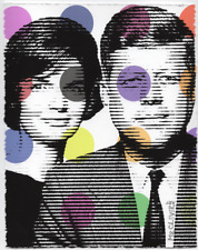 MR CLEVER ART JFK & ARM MODEL #3 contemporary lines dots abstract pop art deco