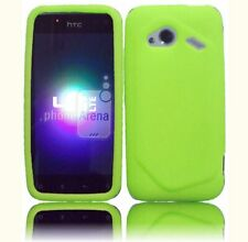 For HTC Droid Incredible 4G LTE Rubber Silicone Skin Case Phone Cover Neon Green