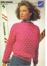 PHILDAR PHIL DOUCE DK Knitting Pattern Sweater 5047