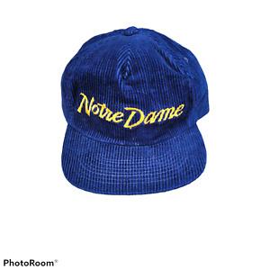 Vtg Notre Dame Sports Specialties Single line Cord Script hat Cap Ncaa Fighting