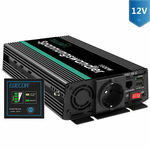 EDECOA Convertisseur 12V 220V 1500W Onde Sinusoïdale Modifiée télécommande