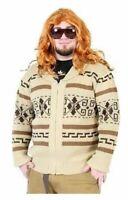 Adult Movie The Big Lebowski Jeffery The Dude Zip Up Costume Cardigan Sweater
