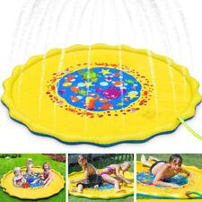 """Kids Inflatable Water Spray Pad Sprinkler Mat Round Water Splash Play Pool 67"""""""