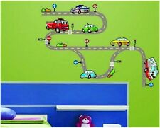 Cars Wall Stickers Kids Transport Vehicle Road Wall Decals Children Wall Decor