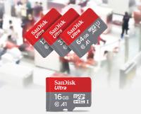 16GB 32GB 64GB 128GB 256GB SanDisk Ultra Micro SD Card + [Free] Adapter Lot