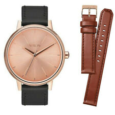 A11902780-00 Nixon Kensington Leather Watch gold rose gold tone