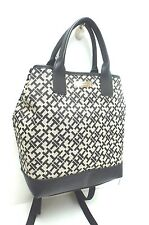 TOMMY HILFIGER Handbag~Backpack*Black Multi Shoulder Tote Purse New
