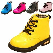 Boy Girl Unisex Kids Tollder Martin Ankle Boots Miltary Waterproof Shoes