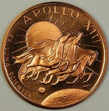 Apollo XIII Bronze Medal Whaise Swigert Four Days Of Peril