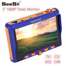 "SeeSii 5"" Monitor CCTV Camera Tester HD TVI CVI AHD VGA CVBS Test PTZ Control"