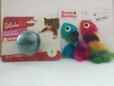 Tropical Fish Catnip & Flash dance Ball Cat/Kitten Toys 2 packages/3 Toys, NEW