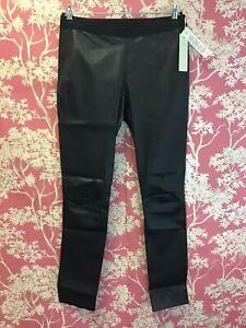 Willow Designer Lamb Leather Pants/Leggings SZ 14 UK BNWT Black