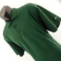 Mens Nike Dri Fit Green Performance Short Sleeve Golf Polo Shirt Size Large L