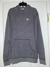 Men DC Shoes Long Sleeve Hoodie Shirt Gray Purple M