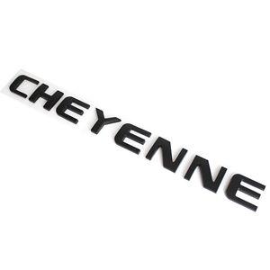 Matte Black CHEYENNE Tailgate Emblem for Chevrolet Cheyenne LT RST High Country