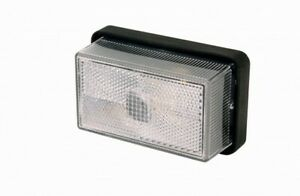 10 x Rubbolite M122 Clear Lamp Ifor Williams Trailer P06773 w Bracket 122/01/00