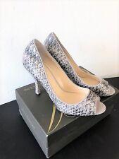 ENZO ANGIOLINI Eamaylie Snake Skin Peep Toe Heels Women's Shoes 8M
