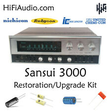 Sansui 3000 rebuild restoration kit fix repair instructions capacitor