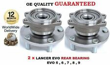 FOR MITSUBISHI LANCER EVO 5 6 7 8 9 1996--> 2x REAR WHEEL BEARING HUB KIT SET