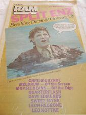 SPLIT ENZ - RAM -OZ MUSIC MAG -1982-#183- DURAN DURAN-CHRISSIE HYNDE- MELDRUM