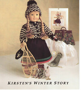 American Girl Doll KIRSTEN'S WINTER STORY BOOKLET PAMPHLET ONLY 1991 Pleasant Co