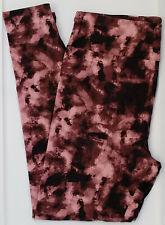 TC LuLaRoe Tall & Curvy Leggings Black Maroon Pink Mauve Tie Dye NWT E06