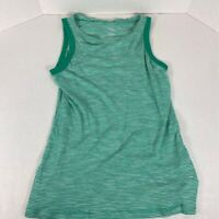 Banana Republic Womens Malibu Tank Top Green Stripe Sleeveless Scoop Neck Sz S/P