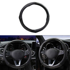 "1x Durable Useful Fashion 38cm/15"" Carbon Fiber Stitching Steering Wheel Cover"