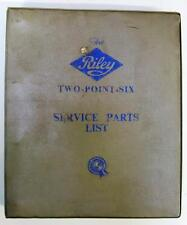 RILEY TWO POINT SIX - Car Parts List - Jul 1958 - #AKD767 - Fourth Edition
