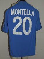 MAGLIA CALCIO SHIRT TRIKOT CAMISETA MAILLOT ITALIA ITALY 2002 MONTELLA 20 tg. L