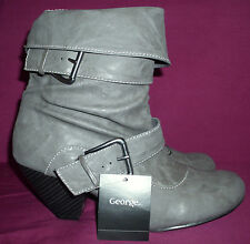 Anita Slouchy Buckle Ankle Boots by George