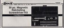 MAGNETIC RATCHETING SCREWDRIVER 30 PCS SET SIOUX 2960K