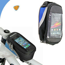 Borsa touch screen bici MOUNTAIN BIKE per SONY XPERIA Z2  impermeabile BLU