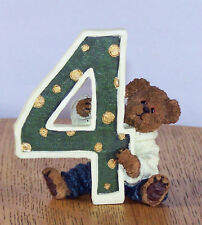 Boyds Bears Bearston # 4 Birthday Bear Collection Bear Peeking out Behind # 4